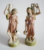 Pair of Royal Dux 'Water Carrier' Neo-classical Figurines c1910 (Sold)